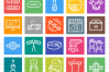 50 Elections Line Multicolor B/G Icons example image 2