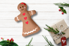 Gingerbread Girl Plush in the Hoop ITH Embroidery Design example image 1