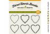 8 svg FLORAL HEARTS leaf heart wreath frames - SVG cut files example image 2