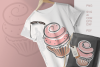 Cupcakes Clipart SVG PDF AI DXF for Crafts and Stationery example image 2