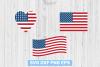 SALE! USA flag svg, American flag svg, Heart USA flag png example image 1