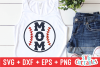 Baseball Mom   Softball Mom   SVG Cut File example image 1