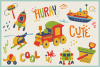 Kid's Toys Vector Cliparts & Seamless Patterns example image 7