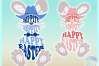 Hippity Hoppity Happy Easter Bunny With Cowboy Hat SVG example image 3