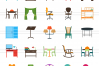 166 Objects Flat Icons example image 2