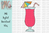 Pink Daiquiri, Summer PNG File, Vacation Sublimation Design example image 1