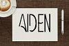 Aiden Art-Deco Font example image 1