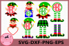 Christmas Monogram Frame, Elf Buffalo Plaid Svg, Elf legs example image 1