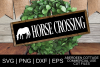 Horse Crossing SVG example image 1