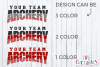 Archery Template 001| SVG Cut File example image 3