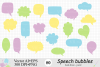 Speech Bubbles Clipart / Chat Bubbles / Hand drawn Text bubbles / Pastel Word Bubbles - Vector example image 1