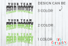 Field Hockey Template 002 | SVG Cut File example image 3