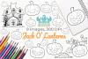 Jack O' Lanterns Digital Stamps example image 1