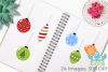 Christmas Ornaments Clipart, Instant Download Vector Art example image 3