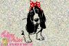 Basset Hound with Bow Bandana example image 1