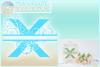 Plumeria Scrollwork Split Letter X SVG Dxf Eps Png PDF files example image 2