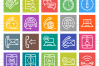 50 Customer Services Line Multicolor B/G Icons example image 2