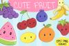 Cute Fruit Illustration Set example image 1