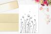 Léa Flowers Garden Doodle Art, A1, SVG example image 4