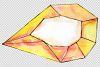Aquamarine crystals Watercolor png example image 3