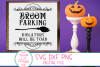 Broom Parking SVG, Funny Halloween SVG, Witch, Broom, Sign example image 4