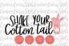 Shake Your Cotton Tail SVG | Easter SVG example image 1