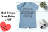Infant T Romper Jersey Mockup - L BLUE example image 1