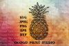 Pineapple SVG, Fruit svg, Zentangle SVG, Mandala svg, Cricut example image 1