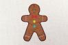 Gingerbread Boy Applique Embroidery Design example image 1