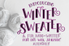 Winter Sweater - A Fun Font Duo with Stylistic Alternates example image 1