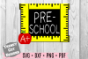 Preschool Grade Ruler Frame, Back to School example image 1