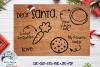 Santa Tray SVG | Christmas Cookie Tray SVG Cut File example image 1