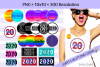 2020 New Year Designs for PRINTING, High Resolution example image 1