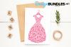 Dress paper cut design example image 6