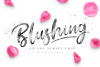 Blushing Script - SVG Font example image 1