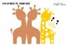Giraffe card design SVG / DXF / EPS files example image 2