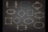Deco Gold foil frames clip arts, Elegant calligraphic frames example image 3