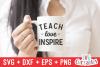Teach Love Inspire | Teacher Cut File example image 2