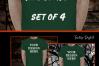 Halloween and Fall Men t-shirt Mockup Bundle, Green tshirt example image 2