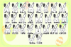 Easter Bunnies SVG Alphabet with A-Z Letters & Numbers example image 3