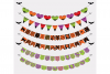 Halloween Colorful Bunting Banners Cliparts Pack, patterned flags Transparent Background, Instant Download Personal & Commercial Use example image 1