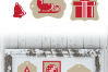SVG Christmas Tags Red White, Cut File, Clip Art FWS466 example image 2