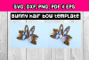 Hair bow - Faux leather diy project Bunny ear hair bows - example image 2