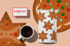 Gingerbread Cookies Christmas Clipart Download PNG Files example image 3