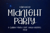 Midnight Party - A Mixed Case Hand-Written Font example image 1