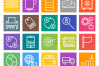 50 Finances & Trade Line Multicolor B/G Icons example image 2