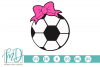 Soccer Ball with Bow SVG, DXF, AI, EPS, PNG, JPEG example image 1