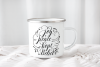 Camping tin mug mockup enamel cup mock up psd smart object example image 3