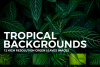 12 Tropical Green Leaves Backgrounds example image 1