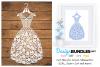 Dress paper cut design example image 1